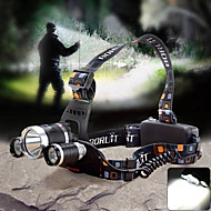 Lights Headlamps LED 1800lm Lumens 4 Mode Cree XM-L T6 / Cree Q5 18650 Adjustable Focus / WaterproofCamping/Hiking/Caving / Cycling/Bike