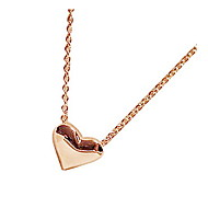 Women's sweet golden peach heart collarbone chain