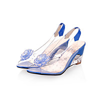 Women's Shoes Transparent Heel Wedges / Heels / Peep Toe Sandals / Heels Outdoor / Dress / CasualBlack / Blue / Yellow / Red /