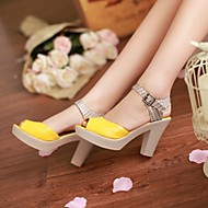 Women's Shoes  Stiletto Heel Peep Toe Sandals Office & Career/Dress Blue/Yellow/Orange