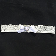 Garter Lace Rhinestone/Sweetheart Ivory