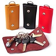 carteras de cuero titular de la clave llavero bolsas clave claves monedero caso