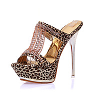Women's Shoes Fabric Stiletto Heel Heels / Platform / Open Toe Sandals Office & Career / Dress / Casual