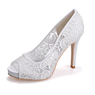 Women's Shoes  Stiletto Heel Peep Toe Sandals Wedding/Party & Evening Black/Pink/Ivory/White