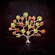 Women's Alloy Tree Of Life Casual/Party Brooches & Pins With Rhinestone
