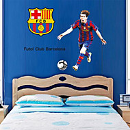 Wall Stickers Wall Decals, Exciting Soccer Andres Messi PVC Wall Stickers