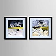 живопись маслом украшения абстрактная ручной росписью холст с натянутой в рамке - набор 2