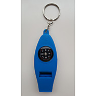 """Vier in een"" multi-functionele kompas / fluit / thermometer / vergrootglas"