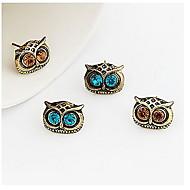(1 Pc) Fashion Exquisite Owl Shape Coppery Drop Earrings