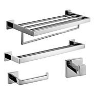 Setdi accessori da bagno/Aste per asciugamano/Porta cartaigienica/Ganci appendiabiti/Scalda asciugamano Contemporaneo - Montaggio a muro