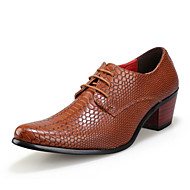 Men's Shoes Wedding/Office & Career/Party & Evening Patent Leather Oxfords Black/Brown/Red