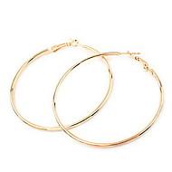 European Style Circle Alloy Hoop Earrings