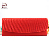 Handcee® New Fashion Women New Satin Ruffle Evening Bag