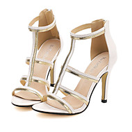 Women's Shoes Stiletto Heel Heels Sandals Casual Black/White