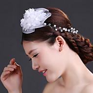 Women's Crystal/Brass/Imitation Pearl/Chiffon/Net Headpiece - Wedding/Special Occasion Flowers 1 Piece