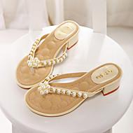 Women's Shoes Chunky Heel Flip Flops Sandals Casual Yellow/Pink