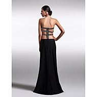 TS couture® 공식적인 저녁 드레스 - 아름다운 다시 플러스 크기 / 구슬 니트 몸집이 작은 칼집 / 칼럼 끈이 바닥 길이
