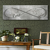 Personalized E-HOME® Canvas Print Signature Love Design Canvas 30x 90cm