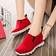 Women's Shoes Fabric/Leatherette Flat Heel Comfort/Closed Toe Loafers Outdoor/Casual Black/Red/Gray