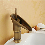 Centerset Single Handle One Hole in Antique Copper Bathroom Sink Faucet