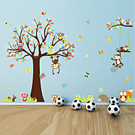 Wandaufkleber Wandtattoo, große Tiere Eulen Baum PVC-Wandaufkleber