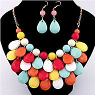 MISSING U Women Vintage / Party Alloy / Acrylic Necklace / Earrings Jewelry Sets