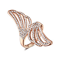 Women's Cubic Zirconia/Korean Style Rose Gold Alloy Ring