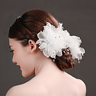 Women's Rhinestone/Tulle/Imitation Pearl Headpiece - Wedding/Special Occasion Flowers 1 Piece
