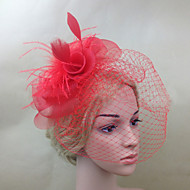 Women Feather/Net Fashion Flowers/Birdcage Veils With Wedding/Party Headpiece(More Colors)