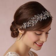 Capacete Flores Casamento/Ocasião Especial Acrilíco/Tecido Mulheres Casamento/Ocasião Especial 1 Peça