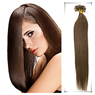 1szt / dużo 24inch / 60cm proste końcówki paznokci multicolors przedłużania włosów grade5a 100s przedłużania włosów ludzkich / 1g pakietu