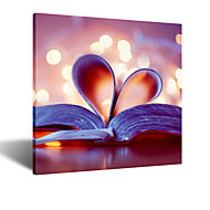 VISUAL STAR® Modern Wall Decor Book Canvas Wall Art for Study Room Ready to Hang