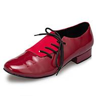 Non Customizable Men's Dance Shoes Tap Flocking Flat Heel Red