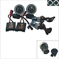 carking ™ h3 gjemte 35w 6000K 2600ml bil projektor tåkelys kit med hvit / blå lys CCFL angel eyes