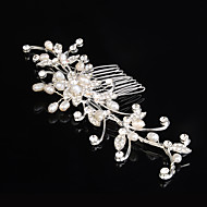 Palace Hairpins Peral Comb for Women Rhinestone Crystals Wedding Hair Accessories Party Wedding Bridal Jewelry