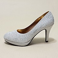 Women's Shoes Leatherette Stiletto Heel Heels Heels Wedding / Casual / Party & Evening Red / Silver / Gold