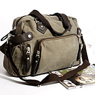 Men 's Canvas Messenger Shoulder Bag - Brown/Black