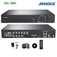 ANNKE® 8CH HDMI 960H DVR CCTV Security System Remote View/Smartphone QR Code Scan Quick Access