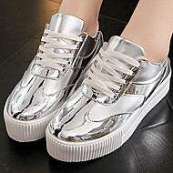 Women's Shoes  Flat Heel Round Toe Fashion Sneakers Casual Silver/Gold