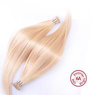 EVET Peruvian Straight Virgin Hair Peruvian Silky Straight I Tip Hair Extensions Human Hair 100g/pc
