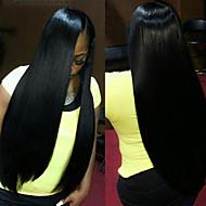 del frente del cordón de las pelucas rectas del frente del cordón malasio pelucas de cabello pelo malasio virginal humanos para las