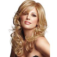 sin tapa de alta calidad a largo ondulado mono top remy virginal pelucas de cabello humano 7 colores para elegir