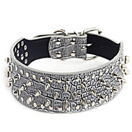 Dog Collar Studded / Rivet Red / Black / White / Brown / Pink / Gray / Purple PU Leather