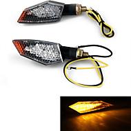 오토바이 (18)가 회전 신호 표시기에게 노란 빛을 스토킹 주도 (2 개)