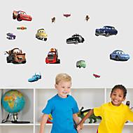 Wall Stickers Wall Decals, Cartoon Cars PVC Wall Sticker