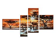 peinture à l'huile animale visuelle star®africa éléphant toile art mural peint à la main à la main peinture prêt à accrocher à l'huile