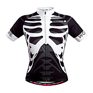 Wosawe Cycling Tops / Jerseys Unisex Bike Breathable / Quick Dry / Back Pocket / Sweat-wicking Short Sleeve Stretchy Polyester Skulls