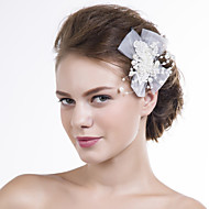 Women Lace/Net Flowers With Imitation Pearl Wedding/Party Headpiece