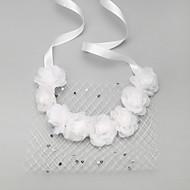 Dame/Blomsterpige Rhinestone/Polyester/Nett Headpiece Bryllup/Spesiell Leilighet Pannebånd Bryllup/Spesiell Leilighet 2 deler
