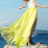 Women's Sexy Beach Cute Maxi Inelastic Thin  Skirts (Chiffon)